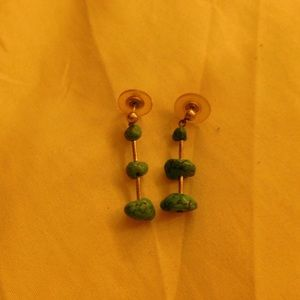 Old pawn turquoise earrings